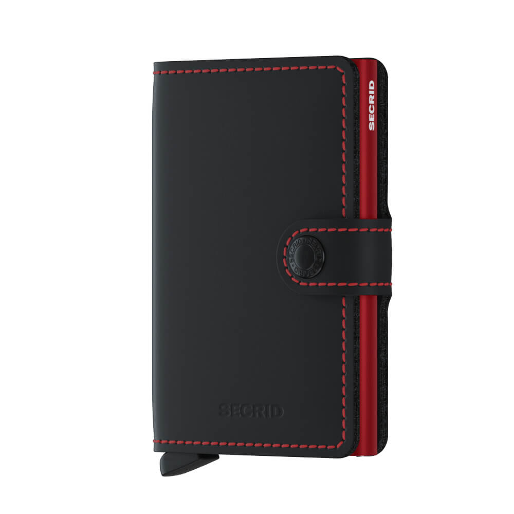 Load image into Gallery viewer, Secrid Miniwallet Matte Black and Red