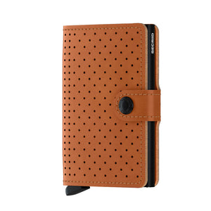Load image into Gallery viewer, Secrid Miniwallet Perforated Black Cognac