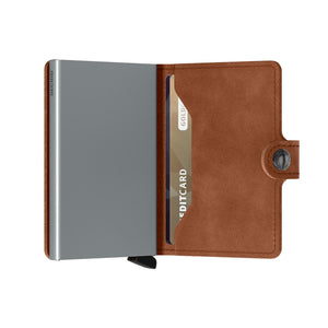 Load image into Gallery viewer, Secrid Miniwallet Vintage Cognac Silver