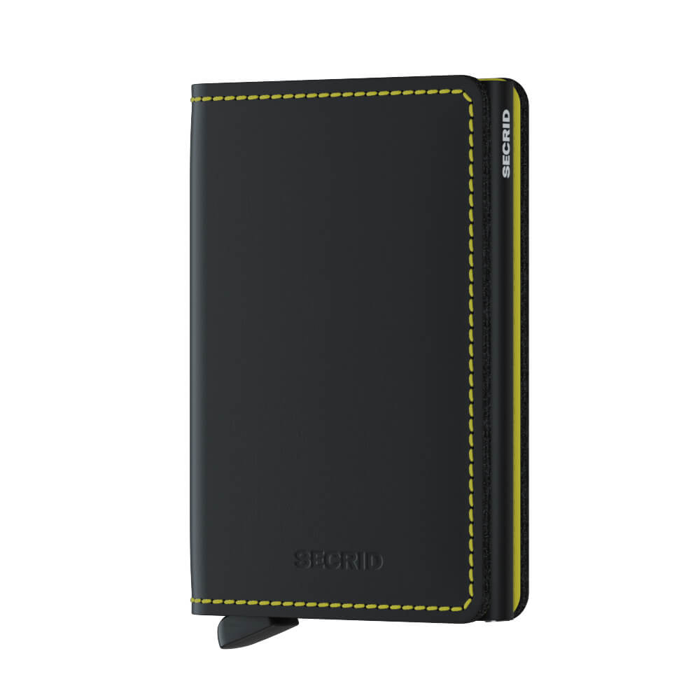 Secrid Slimwallet Matte Black and Yellow