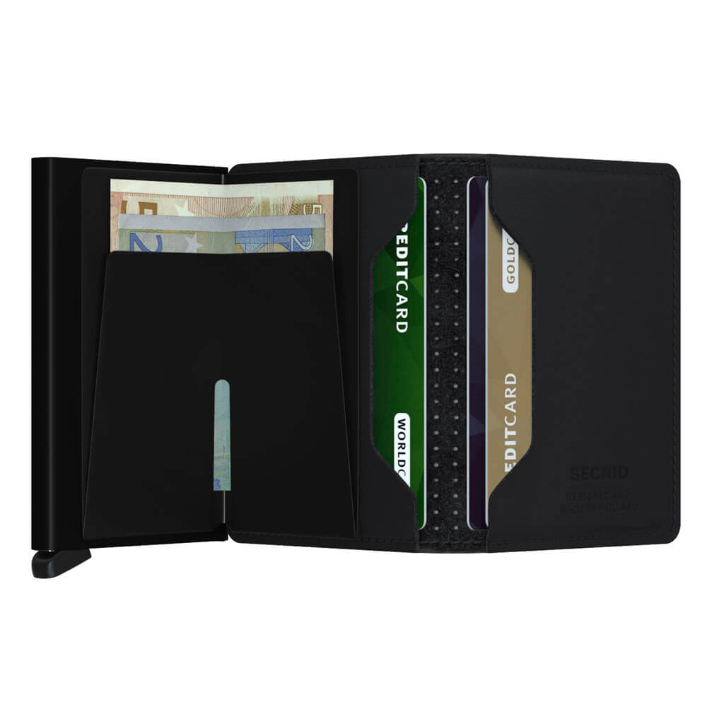 Load image into Gallery viewer, Secrid Slimwallet Perforated Black