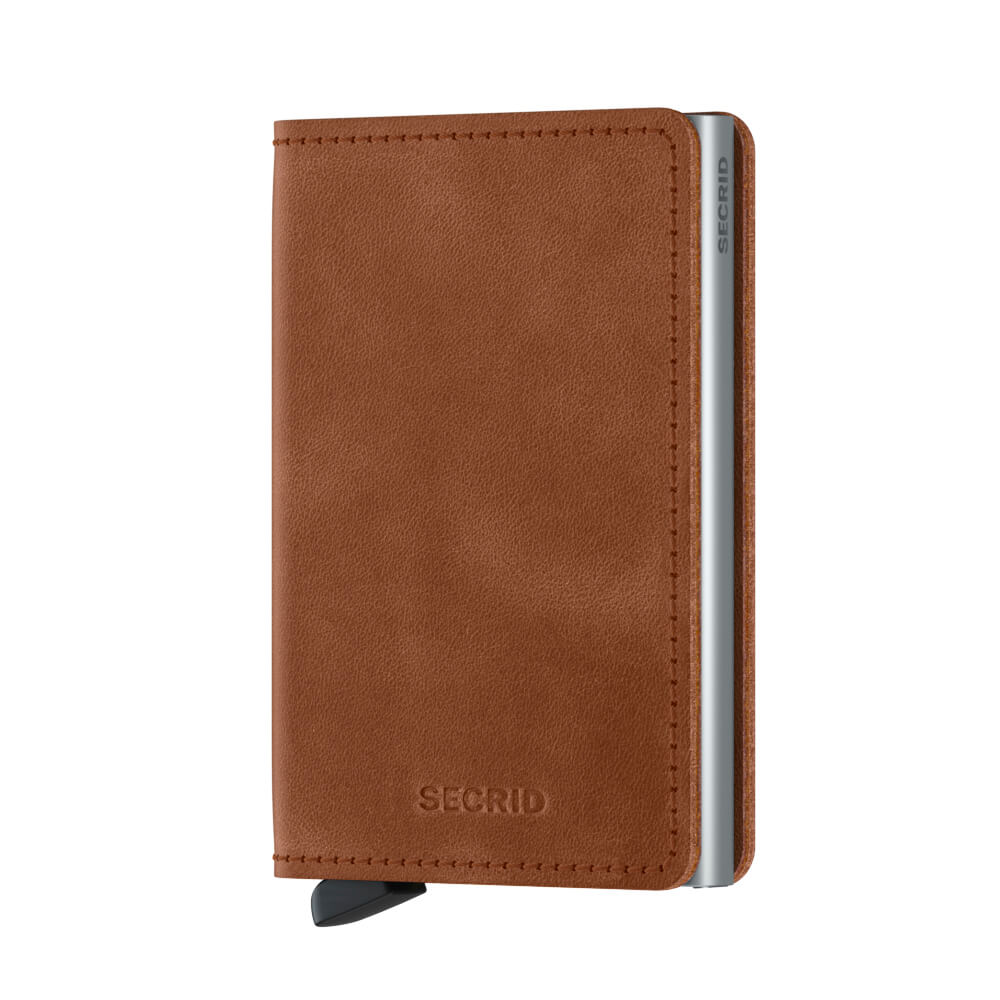 Load image into Gallery viewer, Secrid Slimwallet Vintage Cognac Silver