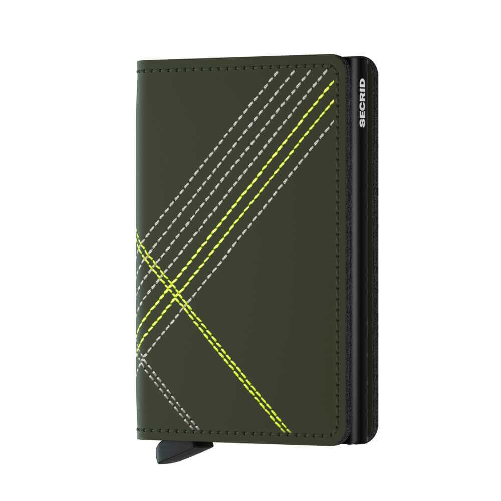 Secrid Slimwallet Stitch Linea Lime