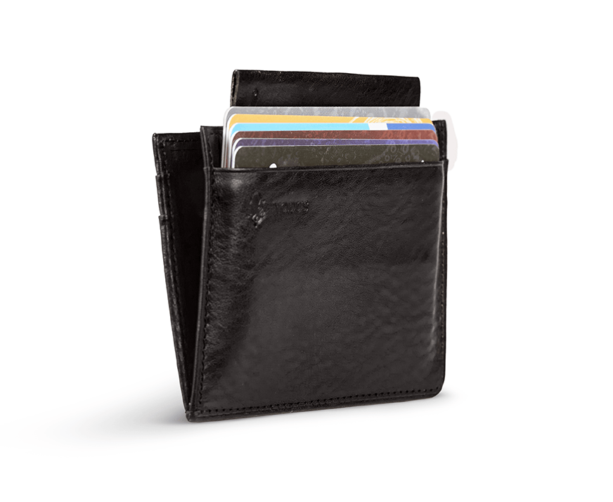 Load image into Gallery viewer, Nodus Compact Wallet Black