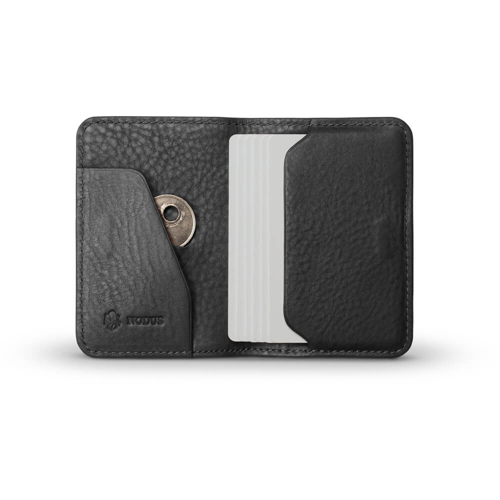 Nodus Hifold Card Wallet Ebony Black