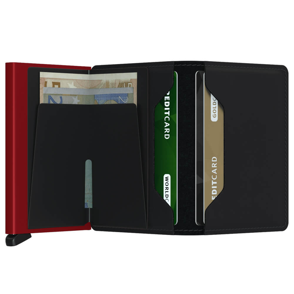 Secrid Slimwallet Matte Black and Red