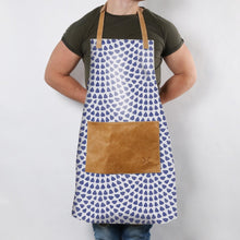 Fabric Apron With Leather Pouch