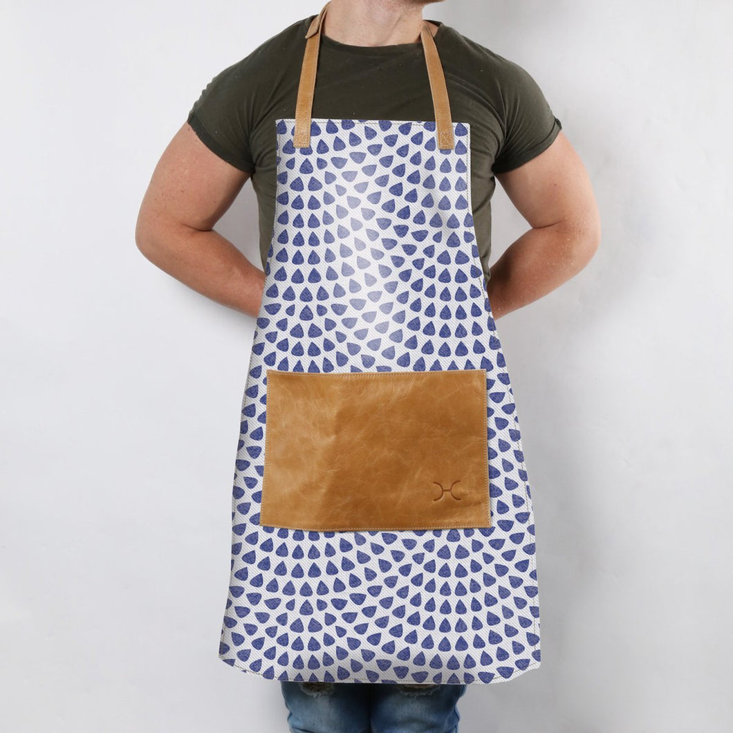 Apron Fabric with Leather Pouch