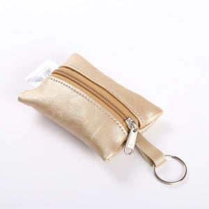Key Ring Metallic Leather