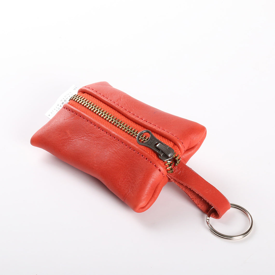 Key Ring Red Leather