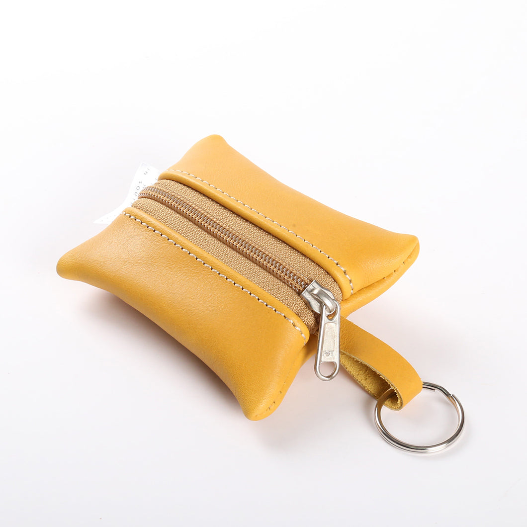 Key Ring Mustard Leather