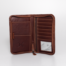 Load image into Gallery viewer, Large Travel Wallet Leather