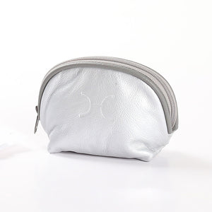 Make Up Bag Metallic Leather