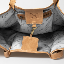 Load image into Gallery viewer, Megan Weave & Leather Bag