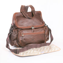 Baby Nappy Backpack Leather