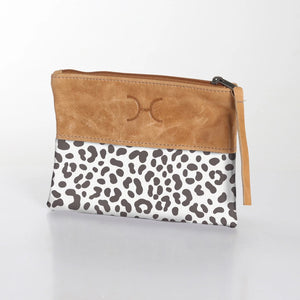 Pouch Laminated Fabric With Leather