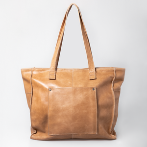 Tote Zipper Handbag Leather