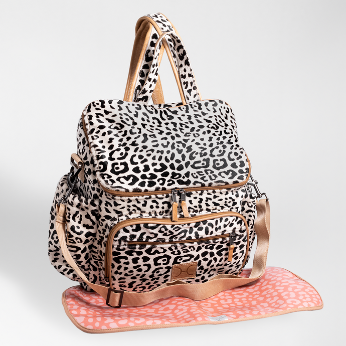Baby Nappy Backpack Animal Printed Leather