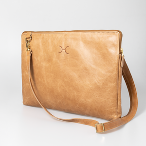 "15"" Goldie Laptop Sling Leather"