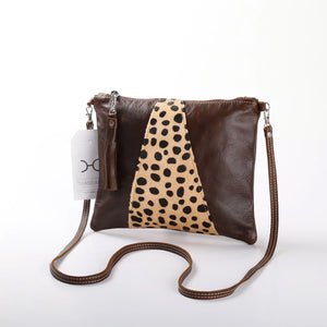 Crossover Animal Print Leather Handbag