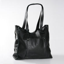 Load image into Gallery viewer, Tote Laptop Zipper Handbag Leather