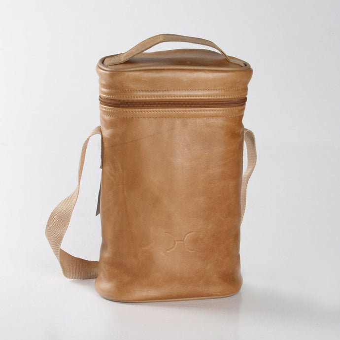Wine Cooler Double Carry Bag Leather