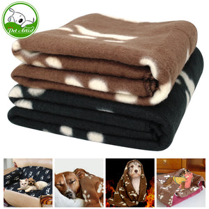 Soft Fleece Puppy Dog Sleep Blanket Cat Thick Warm Blankets Pet House