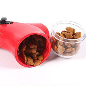 TINGHAO Dog Cat Treat Launcher Snack Food Feeder Catapult Pet Interactive Training Tool