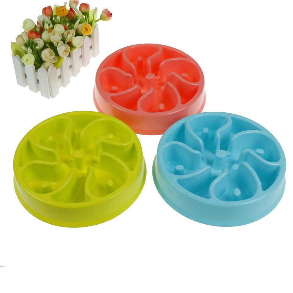 Slow Feed Dog Bowl - 3 Colors