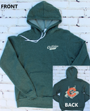 Cartridge Script Front/Factory C Back - Green Pull-Over Hoodie
