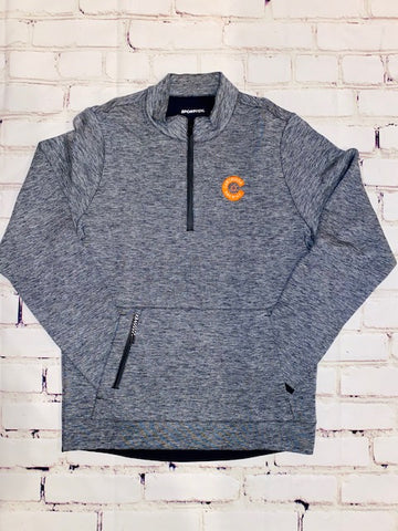 Orange C Embroidered 1/4-Zip Pullover