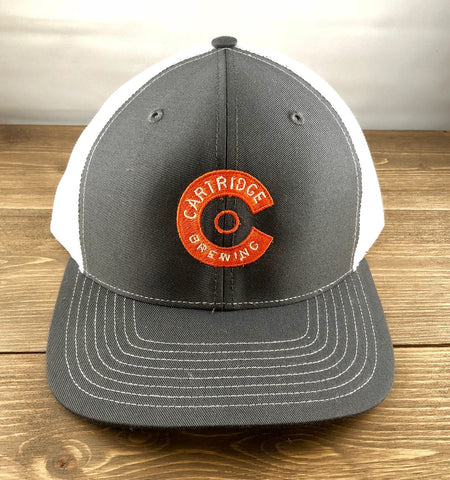 Cartridge Embroidered Shotgun C Logo Trucker Hat