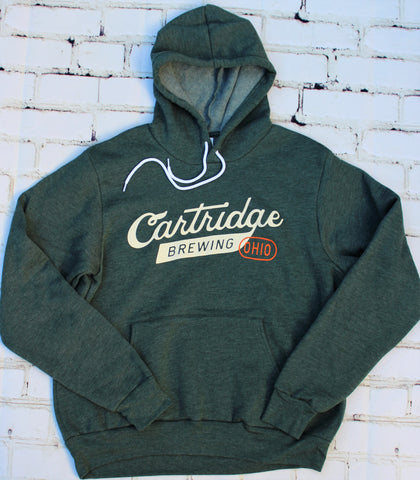 Cartridge Script Logo - Green Pull-Over Hoodie