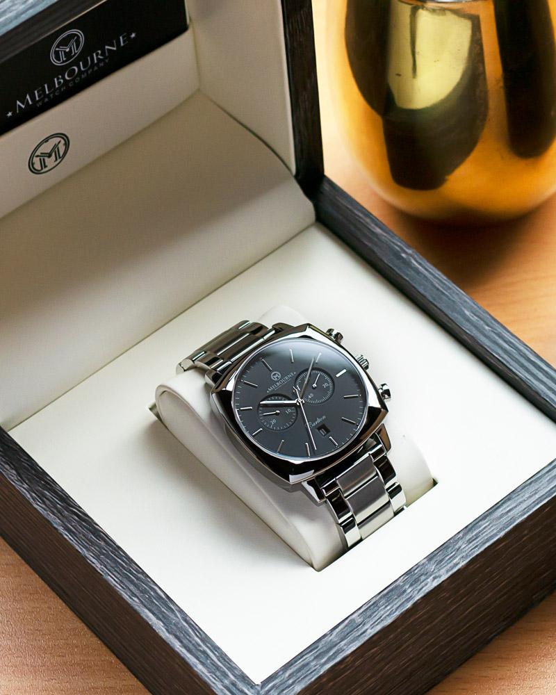 Carlton Black (Steel Bracelet)