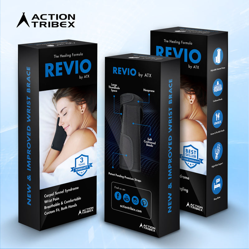 REVIO - ATX Night Sleep Support Wrist Brace