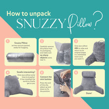 Load image into Gallery viewer, Snuzzy Pillow Bed Reading Pillow