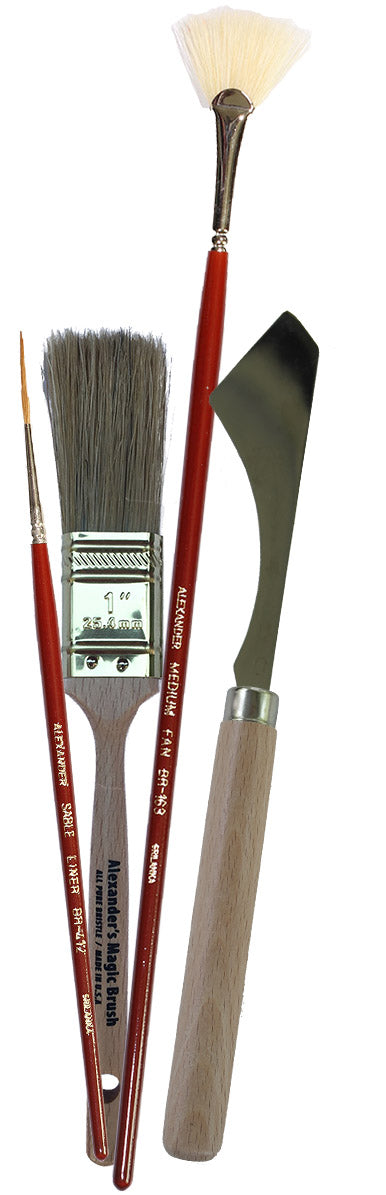 Brush and Palette Knife Kit