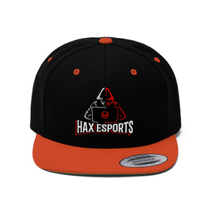 t-hax EMBROIDERED FLAT BRIM HAT