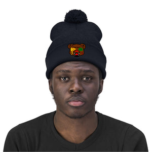 t-pb EMBROIDERED POM POM BEANIE