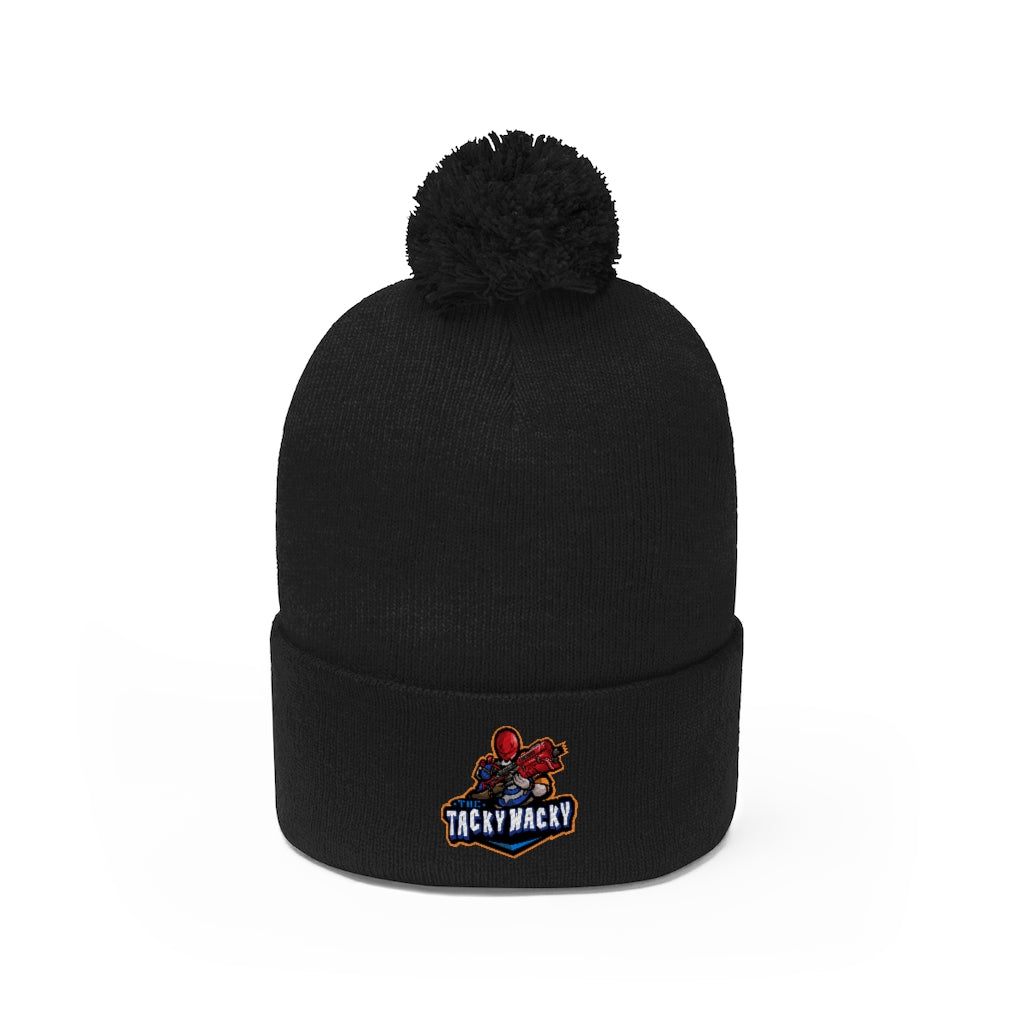 s-ttw EMBROIDERED POM POM BEANIE