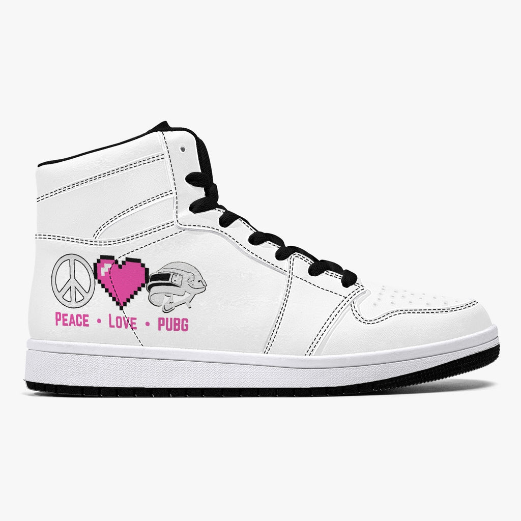 plp High-Top Leather Sneakers - White / Black