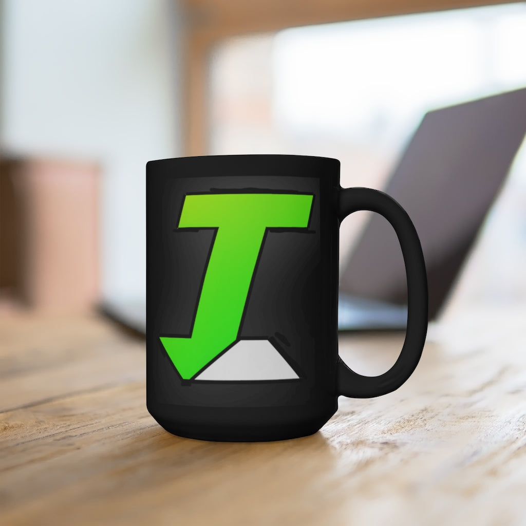 t-int BLACK MUG 15 oz