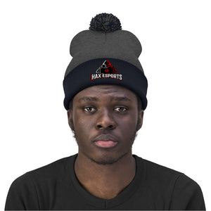 t-hax EMBROIDERED POM POM BEANIE