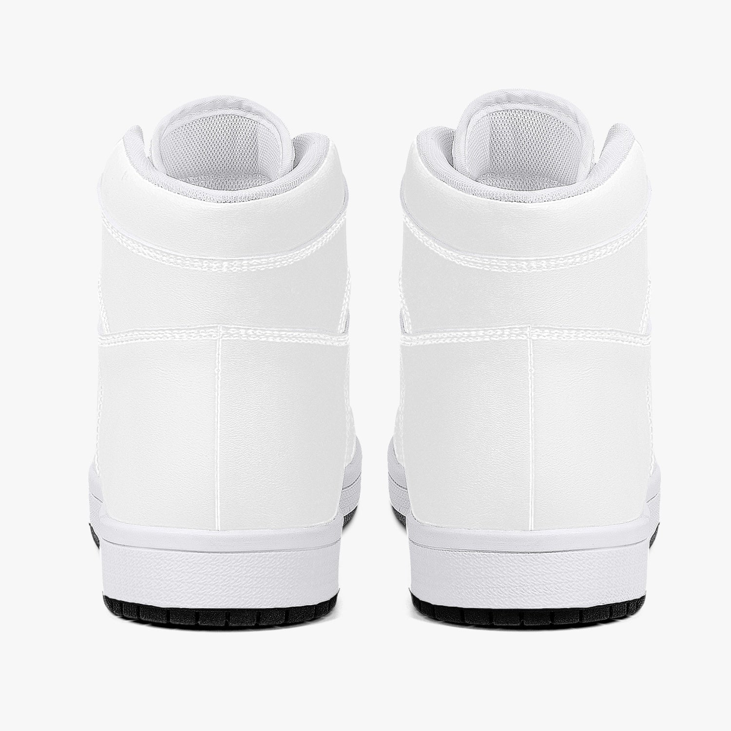 trag High-Top Leather Sneakers - White / Black