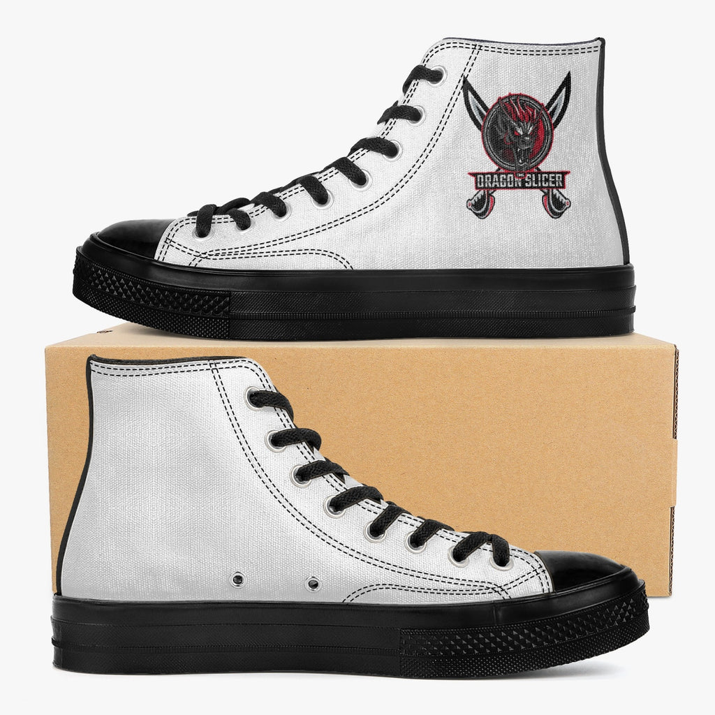 drsl High-Top Canvas Shoes - Black