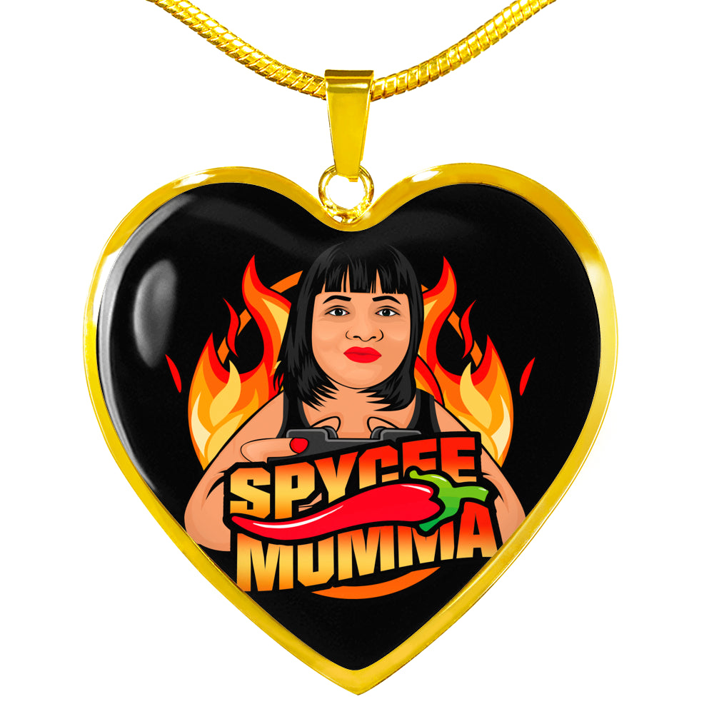 smom Engravable Heart Necklace