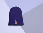 s-bg EMBROIDERED CUFFED BEANIE