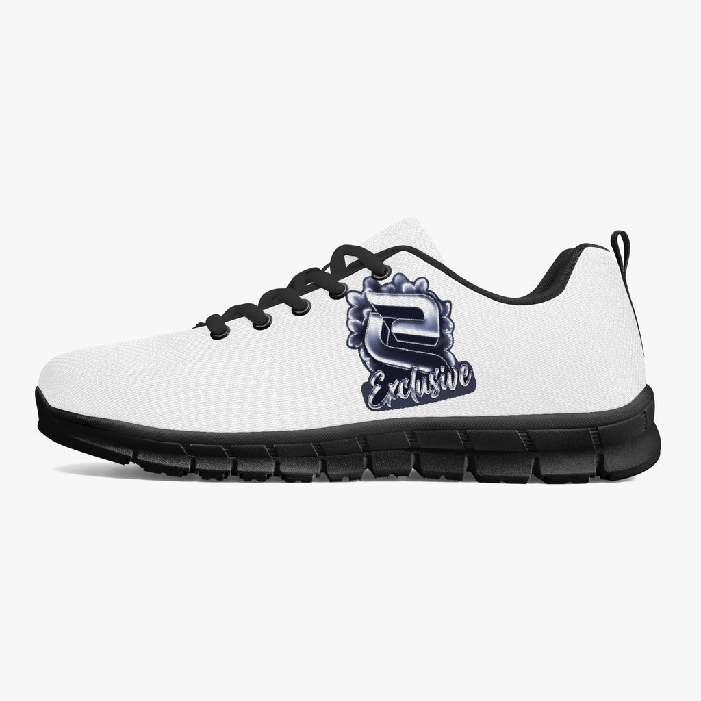 exc Classic Lightweight Mesh Sneakers - White/Black