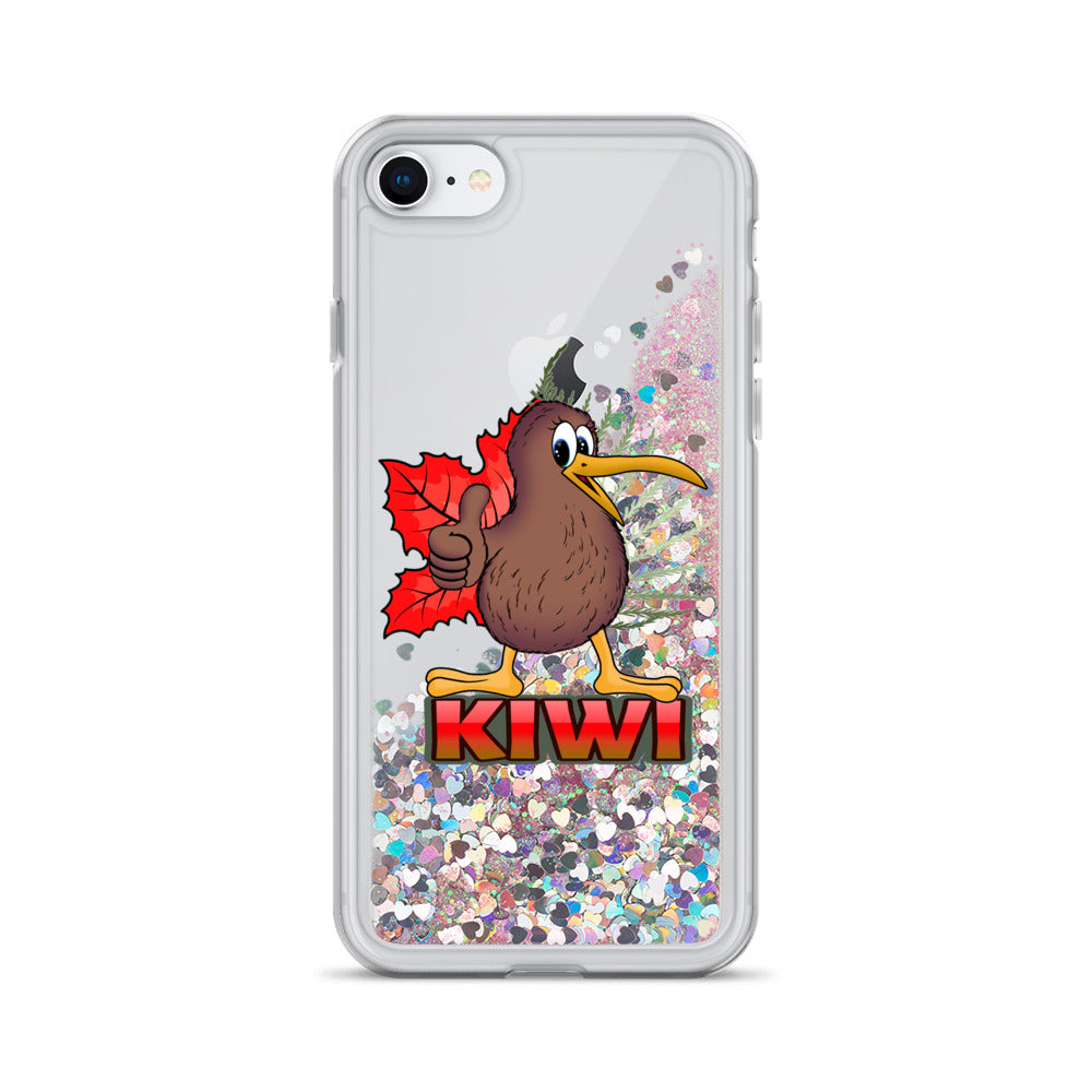 kiwi Liquid Glitter Phone Case