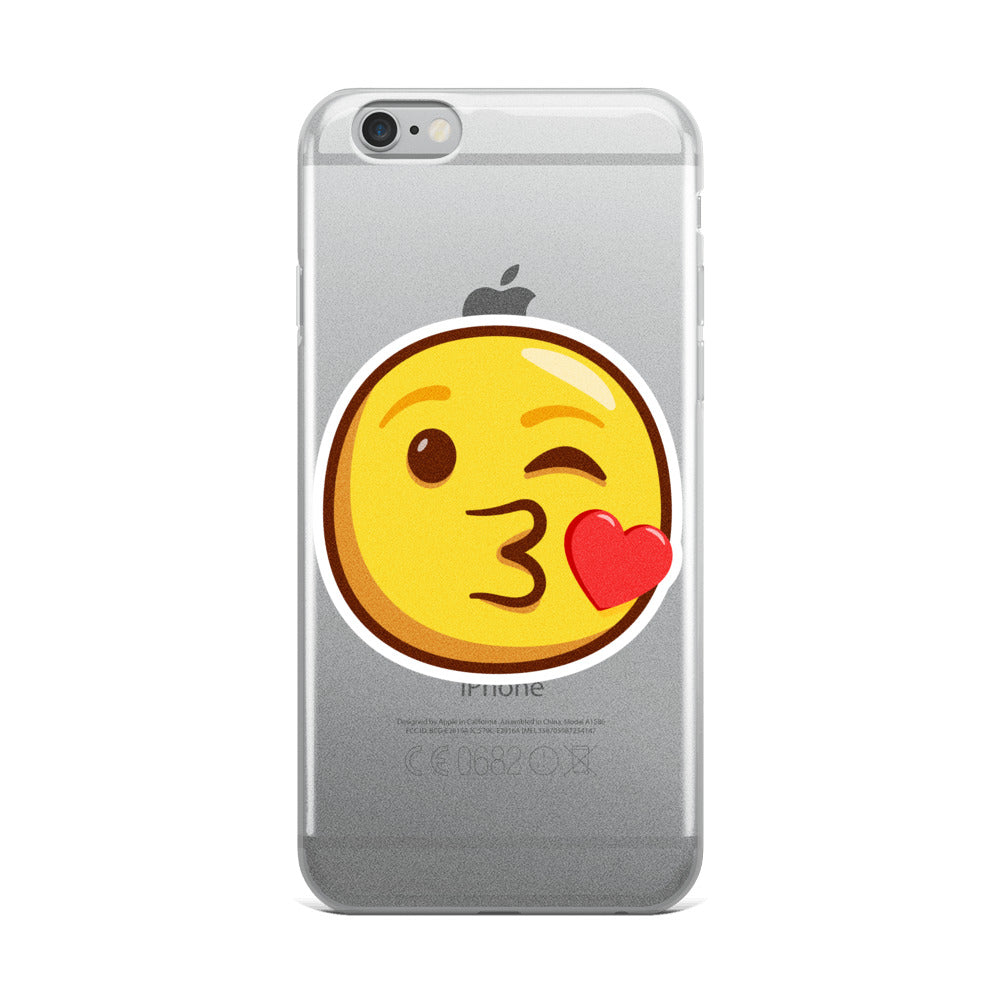 Kiss Emoji iPhone Case